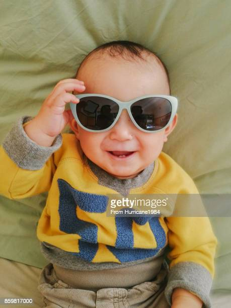 Baby with sun glass