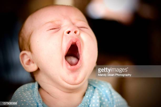 baby yawning - medford oregon stock photos and pictures