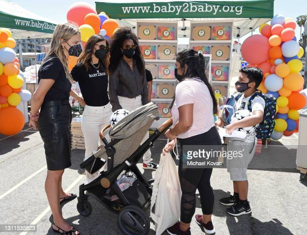 Baby2Baby Co-Ceo Kelly Sawyer Patricof, Baby2Baby Co-Ceo Norah Weinstein and Kelly Rowland attend Welcome Back With Baby2Baby Presented By Amazon...