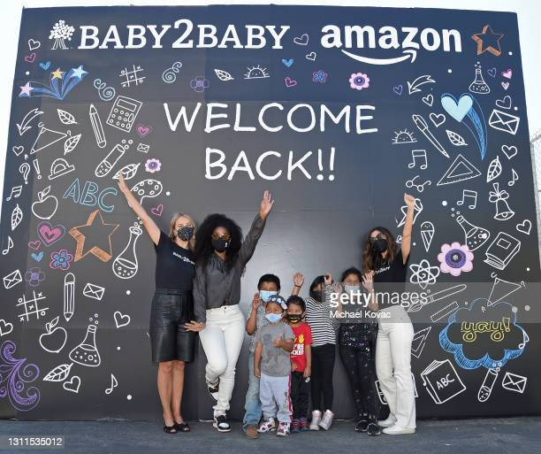 Baby2Baby Co-Ceo Kelly Sawyer Patricof, Kelly Rowland and Baby2Baby Co-Ceo Norah Weinstein attend Welcome Back With Baby2Baby Presented By Amazon...