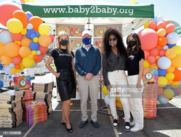 Baby2Baby Co-Ceo Kelly Sawyer Patricof, Los Angeles Unified School District Superintendent Austin Beutner, Kelly Rowland and Baby2Baby Co-Ceo Norah...