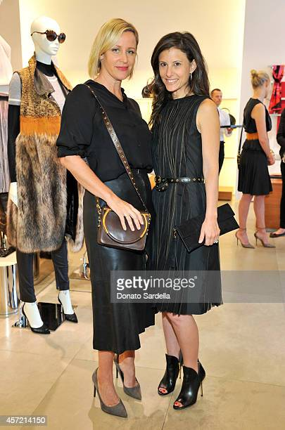 Baby2Baby's Ali Taekman and Norah Weinstein attend Ferragamo Shopping Event with Jacqui Getty benefitting Baby2Baby at the Ferragamo Boutique on...