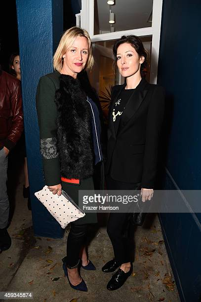Baby2Baby's Ali Taekman and singer Songwriter Alexandra Edenborough attend Clare V And SleepyJones Santa Monica store Grand Opening on November 20...