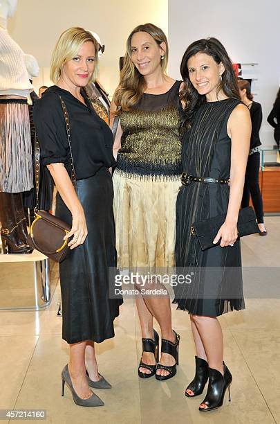 Baby2Baby's Ali Taekman host Jacqui Getty and Baby2Baby's Norah Weinstein attend Ferragamo Shopping Event with Jacqui Getty benefitting Baby2Baby at...