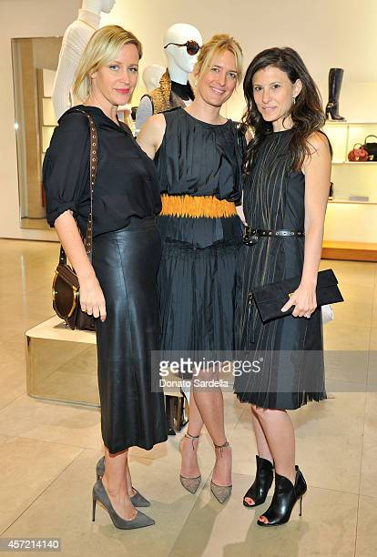 Baby2Baby's Ali Taekman stylist Anita Patrickson and Baby2Baby's Norah Weinstein attend Ferragamo Shopping Event with Jacqui Getty benefitting...