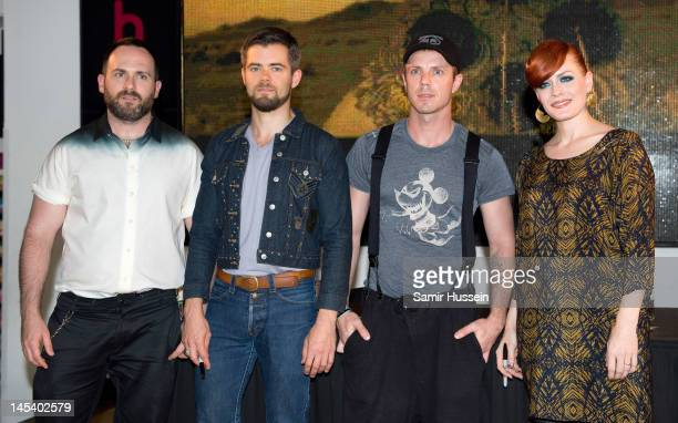 Babydaddy Del Marquis Jake Shears and Ana Matronic of Scissor Sisters make a personal appearance to sign copies of their new album 'Magic Hour' at...