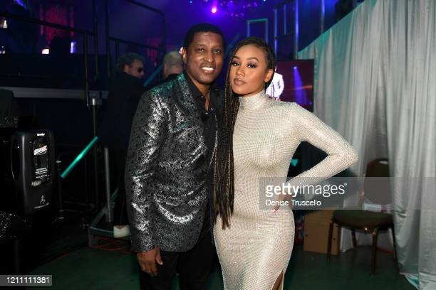 Babyface and Katlyn Nichol attend the 24th annual Keep Memory Alive 'Power of Love Gala' benefit for the Cleveland Clinic Lou Ruvo Center for Brain...