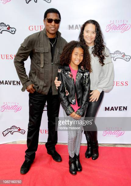R Babyface Peyton Nicole Edmonds and Nicole Pantenburg attend the Mini MavenÕs New Winter issue release party on October 14 2018 in Beverly Hills...