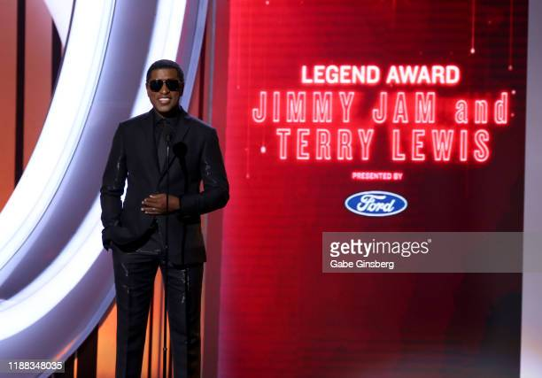 "Babyface presents the ""Legend Award"" during the 2019 Soul Train Awards at the Orleans Arena on November 17, 2019 in Las Vegas, Nevada."