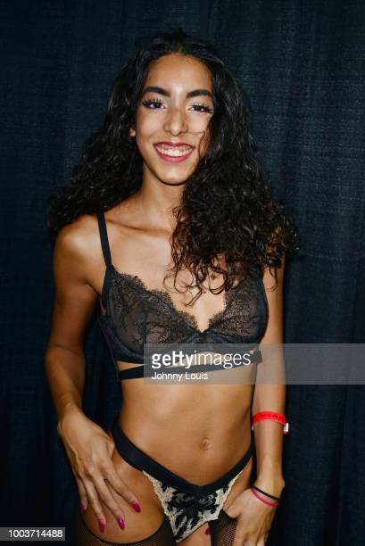 Babygirl Claire attends the EXXXOTICA Expo 2018 at Miami Airport Convention Center on July 21 2018 in Miami Florida