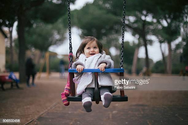 Babygirl on swing