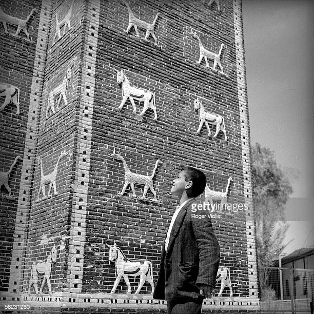 Babylon Reconstitution of the old gate of Ishtar of the city 1964