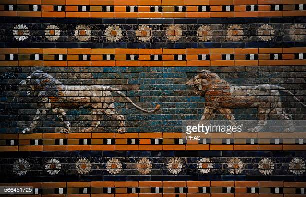 Babylon's lion Lions and flowers decorated the Processional Wal 575 BC Pergamon Museum Museum Island Berlin Germany