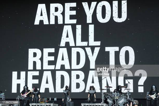 Babymetal perform on The Other Stage on day five of Glastonbury Festival at Worthy Farm Pilton on June 30 2019 in Glastonbury England Glastonbury is...