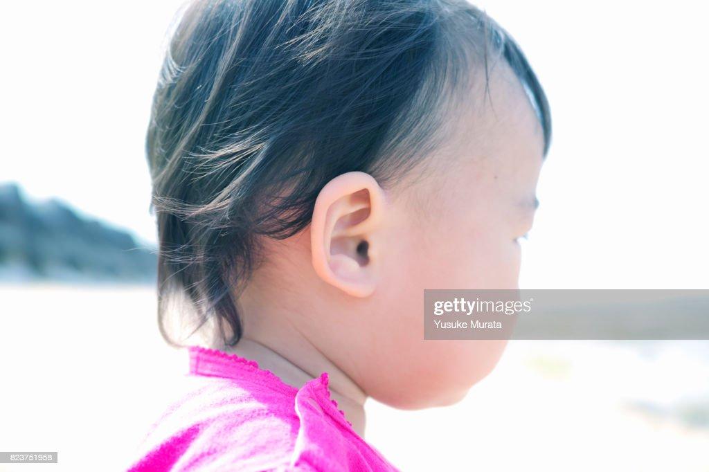 Baby's ear,close up : ストックフォト