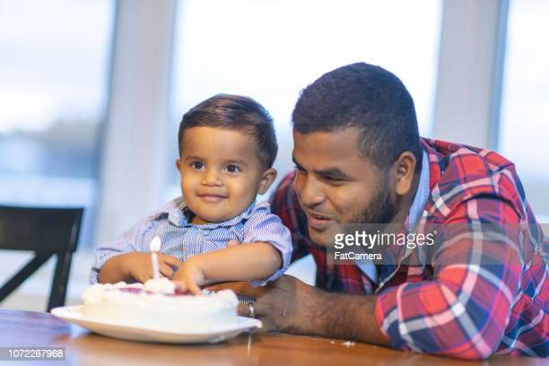 baby's first birthday - happy birthday canada stock pictures, royalty-free photos & images