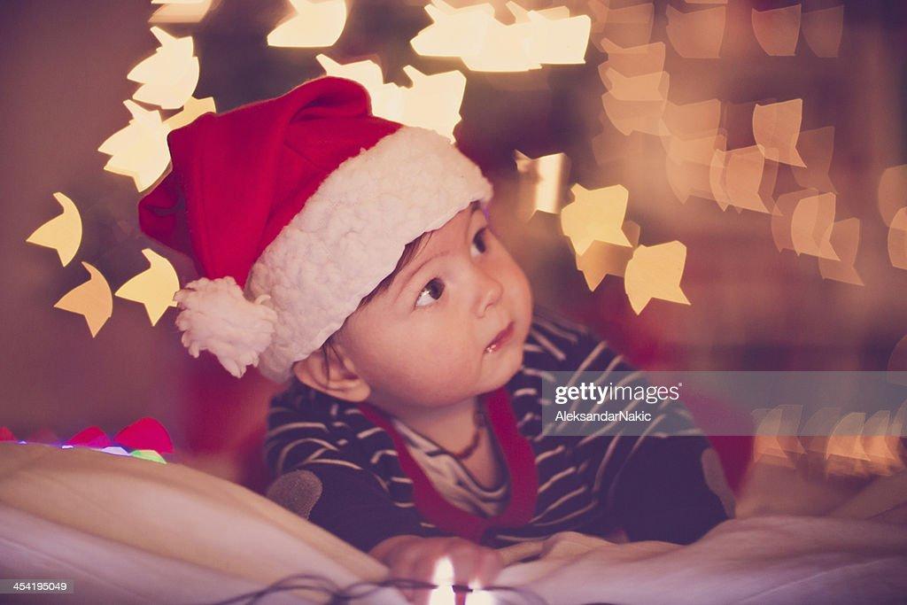 Primera bebé de Navidad : Foto de stock