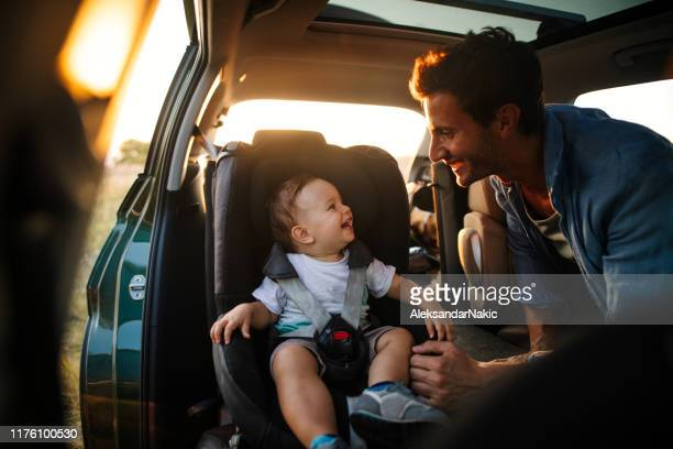 baby's first road trip - car stock pictures, royalty-free photos & images