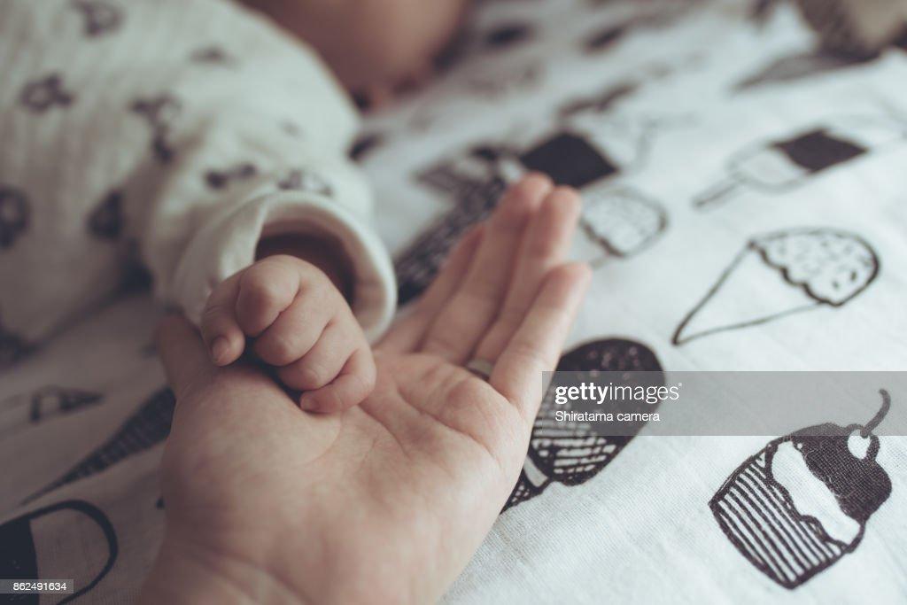 Baby's hand : ストックフォト
