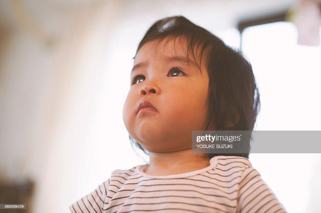 Baby's shining eyes : Stock Photo