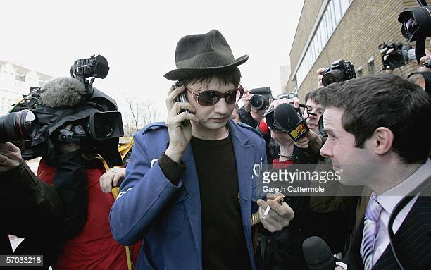 Babyshambles frontman Pete Doherty arrives at court on March 9 2006 Pete is appearing on bail charged with possession of Class A and C drugs after...