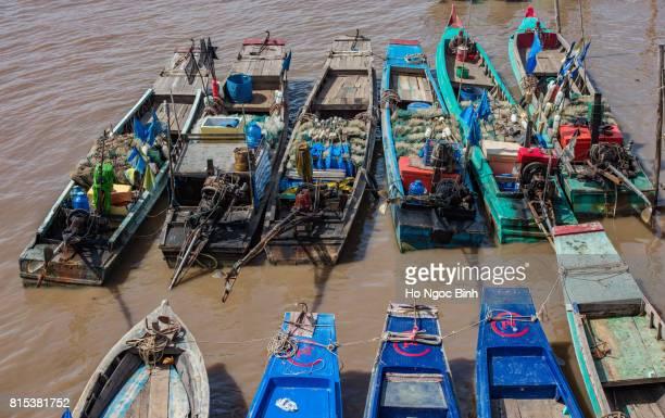Bac Lieu, Viet nam 05/19/2017: The boat runs on the Mekong River