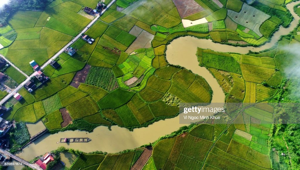 Bac Son valley from above : Stock Photo