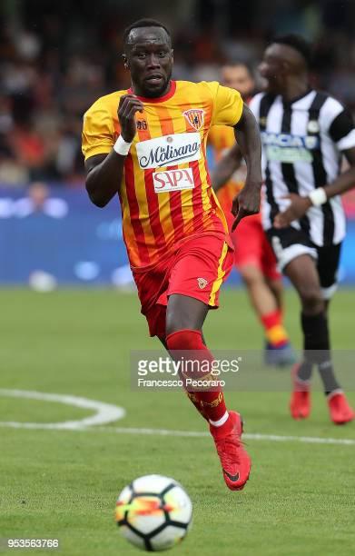 Bacary Sagna of Benevento Calcio during the serie A match between Benevento Calcio and Udinese Calcio at Stadio Ciro Vigorito on April 29 2018 in...
