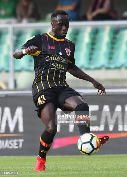Bacary Sagna of Benevento Calcio in action during the Serie A match between AC Chievo Verona and Benevento Calcio at Stadio Marc'Antonio Bentegodi on...