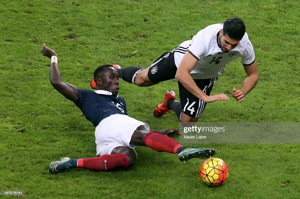 Bacary Sagna of France and Emre Can of Germany in action during the International Friendly games between France and Germany at Stade de France on november 13, 2015 in Paris, France.