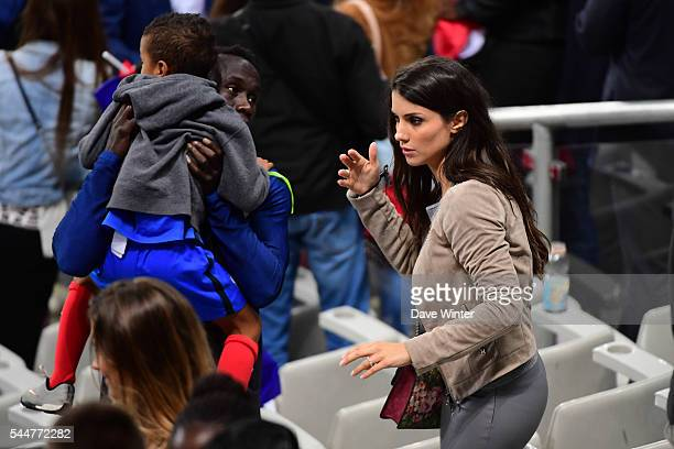 Bacary Sagna of France and his wife Ludivine following the UEFA Euro 2016 Quarter Final between France and Iceland at Stade de France on July 3 2016...