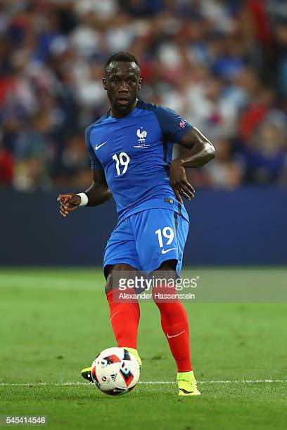 Bacary Sagna of France runs with the ball during the UEFA EURO 2016 semi final match between Germany and France at Stade Velodrome on July 7 2016 in...
