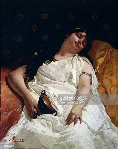 Bacchante by Cesare Maccari 18701880 oil on canvas 114x89 cm