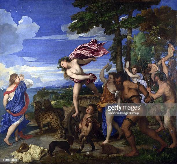 Bacchus and Ariadne' 15201523 Oil on canvas Titian Italian painter l Italian Renaissance school Ariadne deserted on Naxos found by Bacchus/Dionysius...