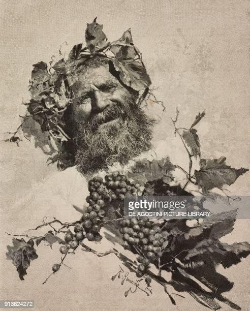 Bacchus by Raffaele Armenise engraving by Ernesto Mancastropa from L'Illustrazione Italiana Year XX No 8 February 19 1893