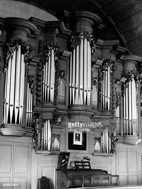 Bach Johann Sebastian *2103168528071750 Composer Germany Organ of composer Johann Sebastian Bach in the Church of St Boniface in Arnstadt / Thuringia