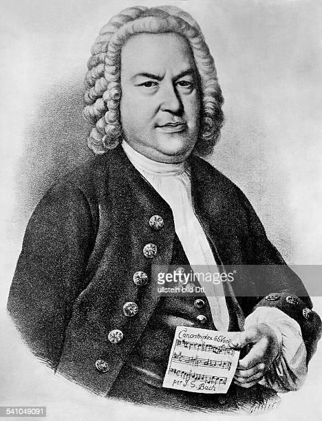 Bach Johann Sebastian *2103168528071750Komponist D Portrait Stich nach dem Gemaelde von Schlick undatiert