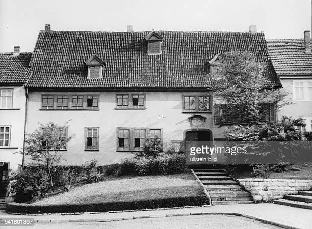 Bach Johann Sebastian *2103168528071750Komponist D Vorderseite des Geburtshauses in Eisenach undatiertAufgenommen vor 1957