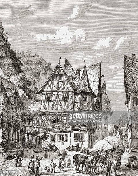 Bacharach Aka Bacharach Am Rhein RhinelandPalatinate Germany In The 19Th Century From Pictures From The German Fatherland Published C1880