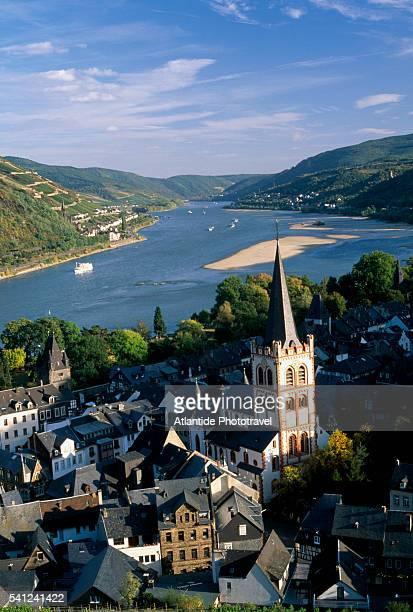 Bacharach Village and the Rhine River