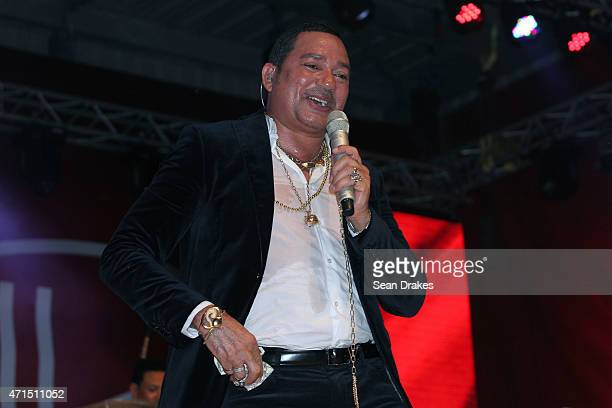 Bachata artist Frank Reyes of the Dominican Republic performs at Sabor Latino III in the Festival Village during Carnival on April 29 2015 in...
