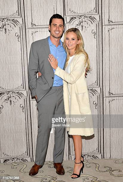 Bachelor Ben Higgins and Lauren Bushnell attend the AOL Build Speaker Series to discuss 'The Bachelor' at AOL Studios In New York on March 15 2016 in...