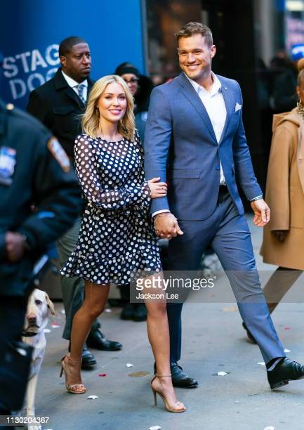 Bachelor Colton Underwood and Cassie Randolph at GMA on March 13 2019 in New York City
