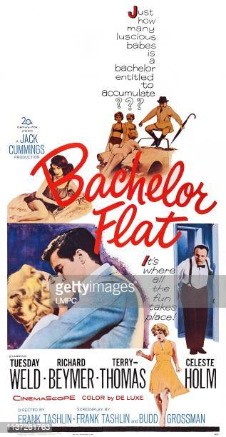 Bachelor Flat, poster, US poste, Francesca Bellini , bottom from left: Tuesday Weld, Richard Beymer, Tuesday Weld, Terry-Thomas, 1962.