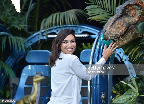 'Bachelor In Paradise' contestant Ashley Iaconetti attends the premiere of 'Jurassic World Fallen Kingdom' on June 12 2018 at The Walt Disney Concert...