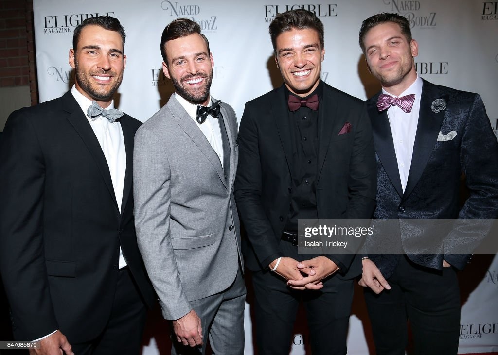 'Bachelor In Paradise's Ben Zorn, Robby Hayes, Dean Unglert and Adam Gottschalk attend Eligible Magazine presents The TIFF Bachelor Party at Everleigh during the 2017 Toronto International Film Festival on September 15, 2017 in Toronto, Canada.
