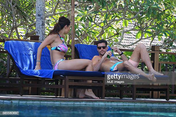 Bachelor Sam Wood and Snezana Markoski are seen on October 26 2015 in Bali Indonesia