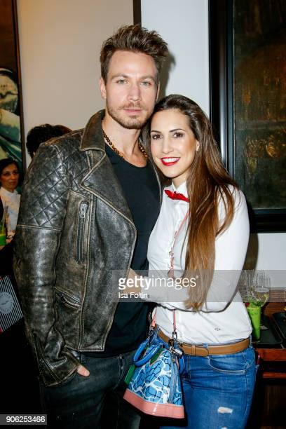 Bachelor Sebastian Pannek and his girlfriend CleaLacy attend the Thomas Sabo Press Cocktail during the MercedesBenz Fashion Week Berlin A/W 2018 at...