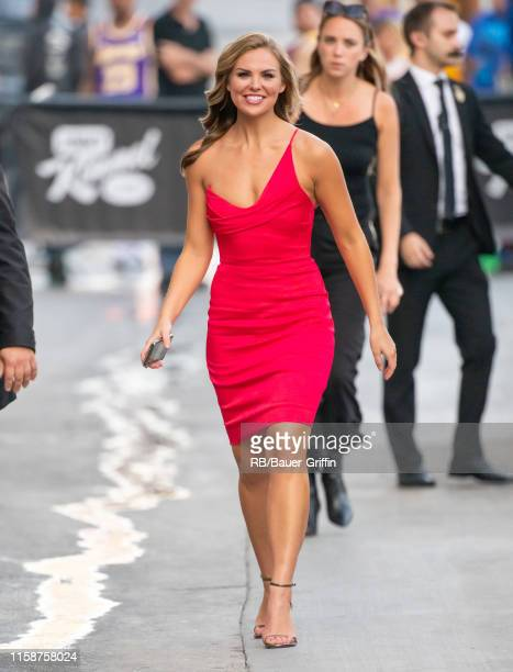 'Bachelorette' Hannah Brown is seen on 'Jimmy Kimmel Live' on July 30 2019 in Los Angeles California
