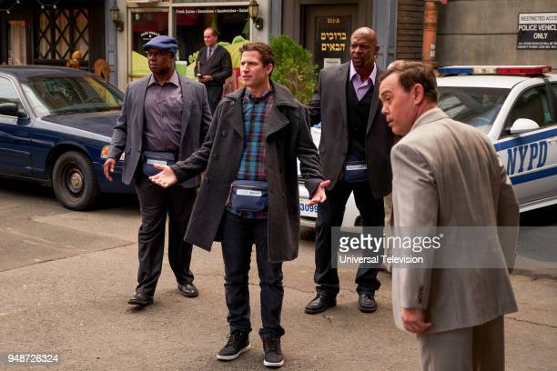 NINE 'Bachelor/ette Party' Episode 519 Pictured Andre Braugher as Captain Ray Holt Andy Samberg as Jake Peralta Terry Crews as Terry Jeffords Joe Lo...
